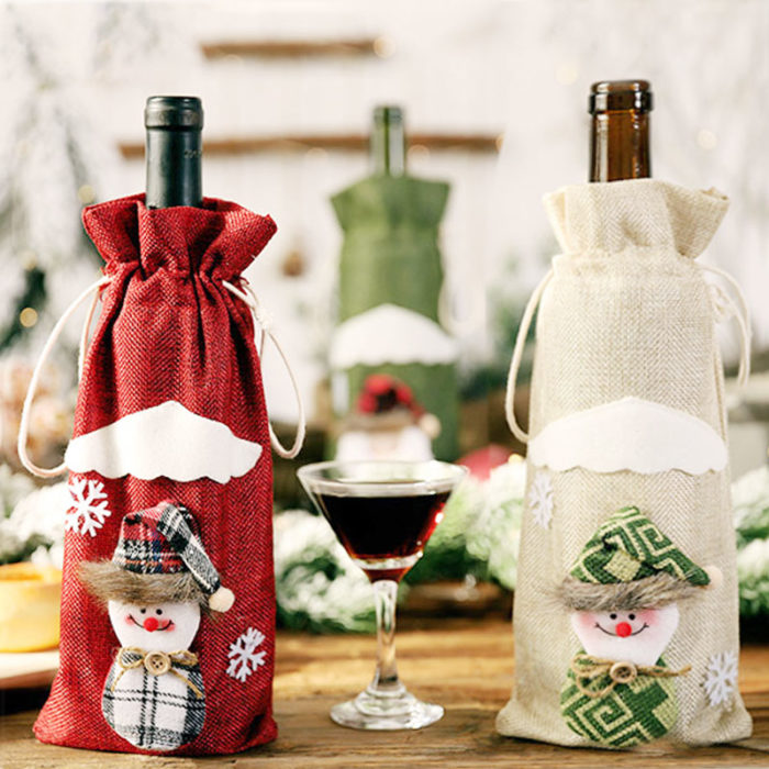 Wine Bottle Cover Christmas Decoration