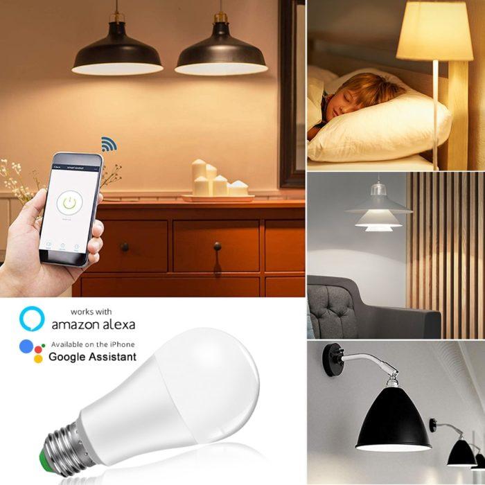 Smart LED Bulb Voice Smartphone Control