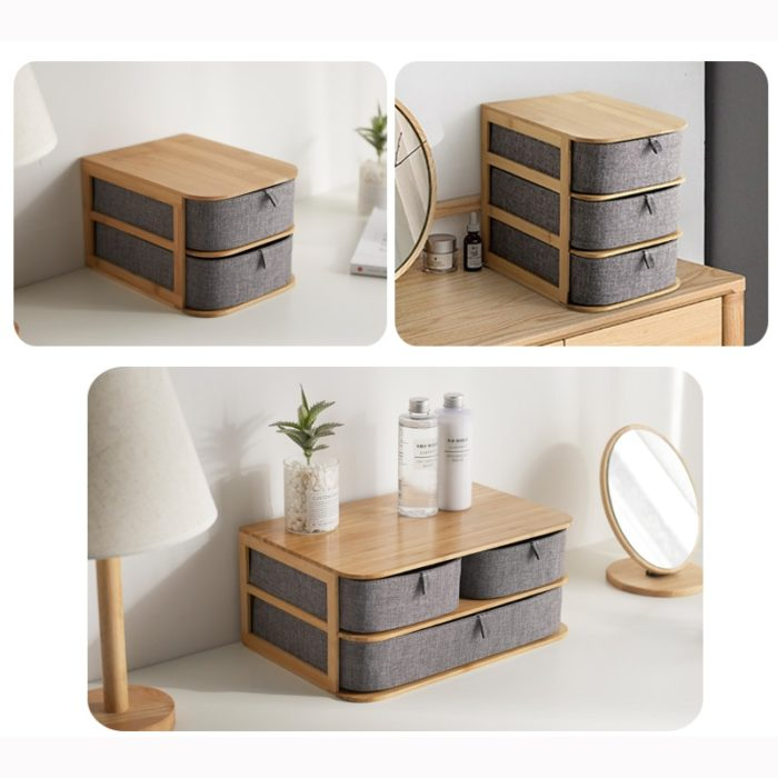 Wooden Drawers Multi-layer Storage