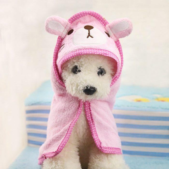 Dog Towel Hood Cute Cartoon