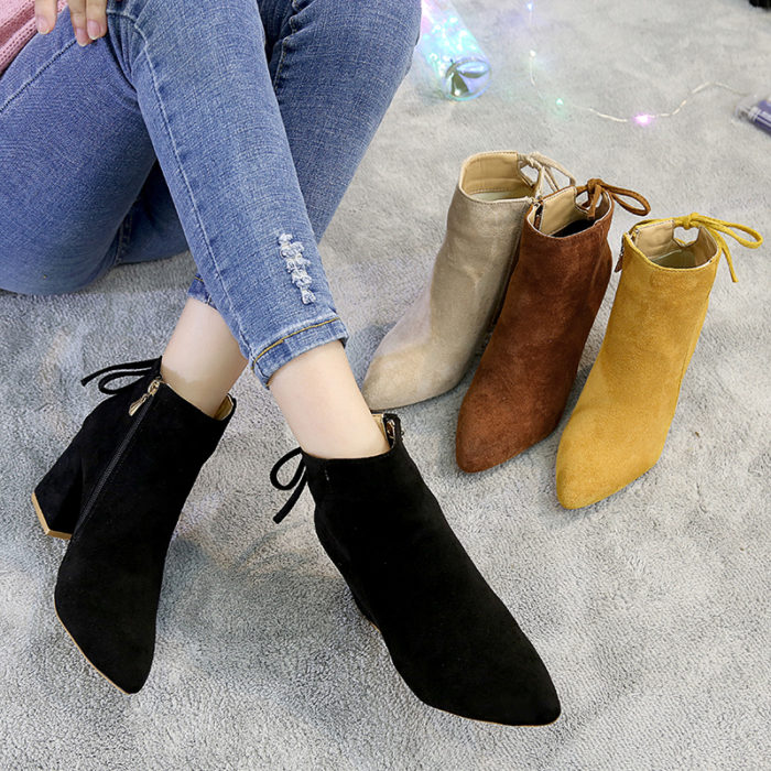 Ladies Ankle Boots Fashion Footwear