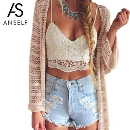 Crochet Crop Top Knitted Top