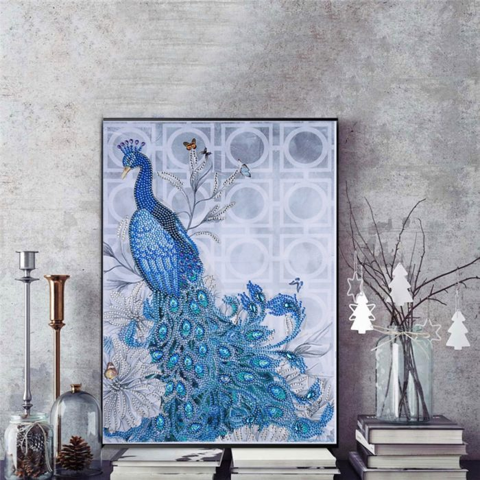 DIY Diamond Painting Peacock Design