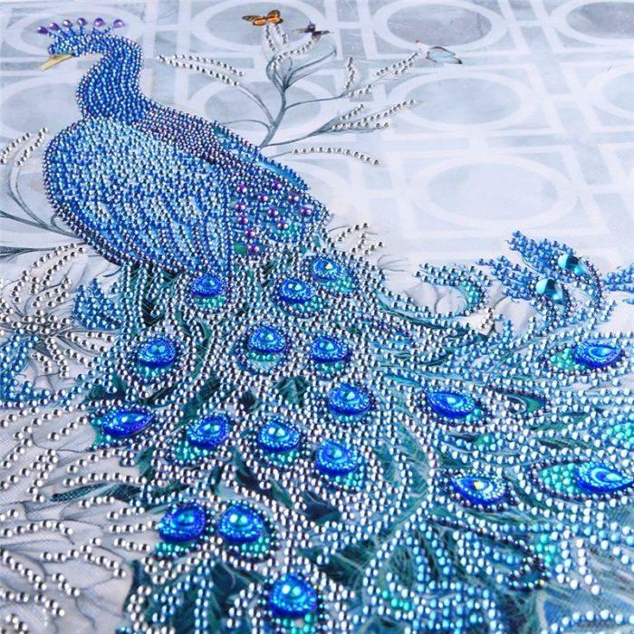 DIY Diamond Painting Peacock Design