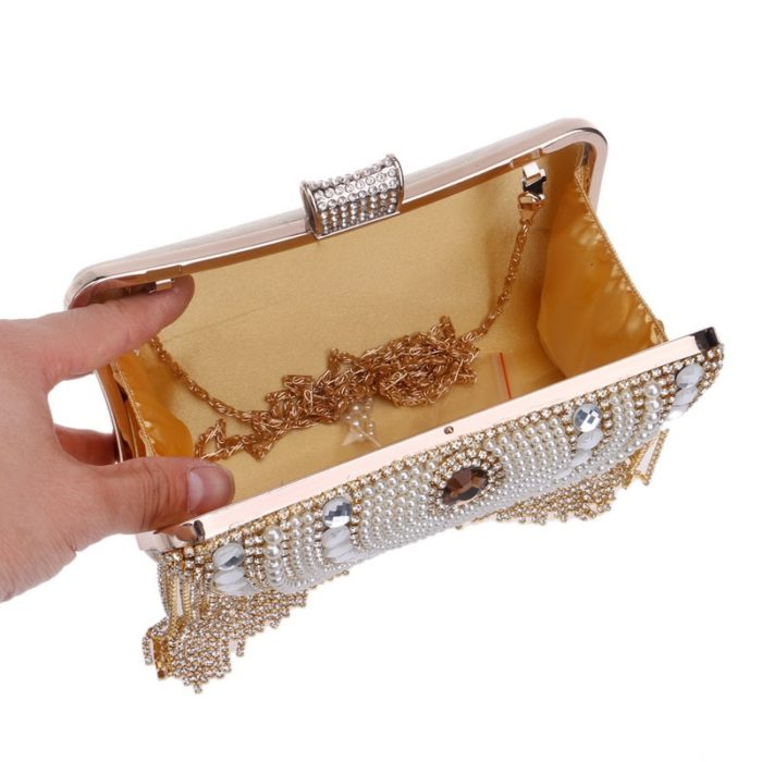 Evening Clutch Bag Beaded Purse