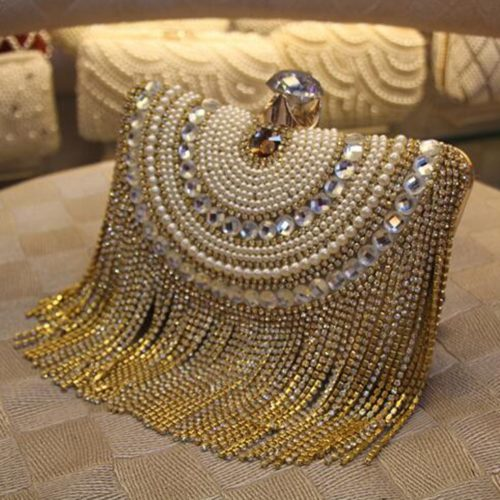 Evening Clutch Bag Beaded Purse