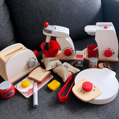 Wooden Kitchen Set Kids Educational Toys
