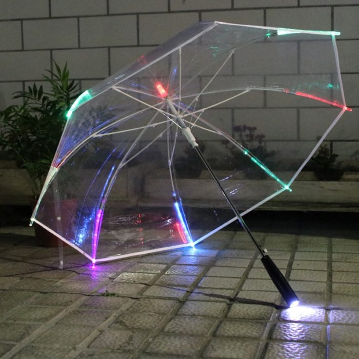 LED Umbrella Transparent Design