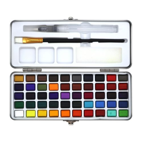 Watercolor Paint Set 50 Assorted Colors