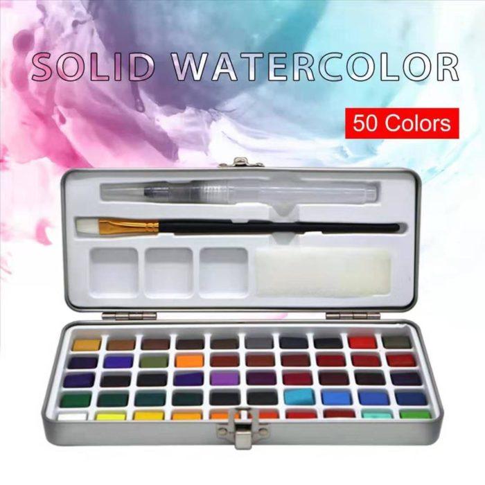 Watercolor Paint Set 50 Assorted Colors