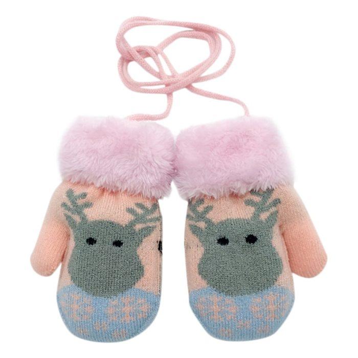 Kids Winter Gloves Cute Mittens