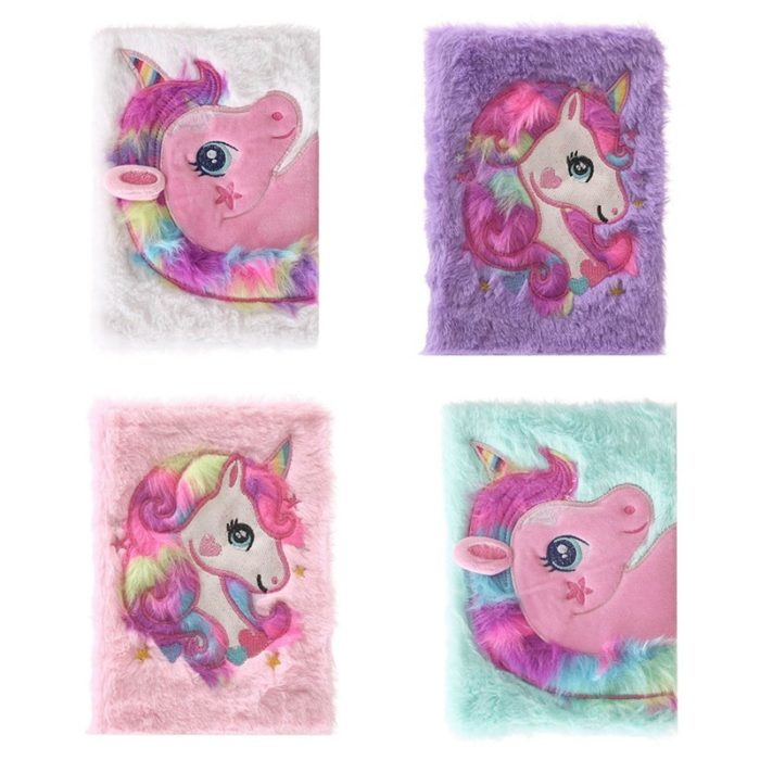 Cute Journal Unicorn Plush Notebook