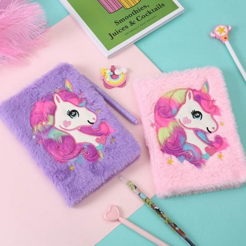 Cute Journal Unicorn Plush Notebook
