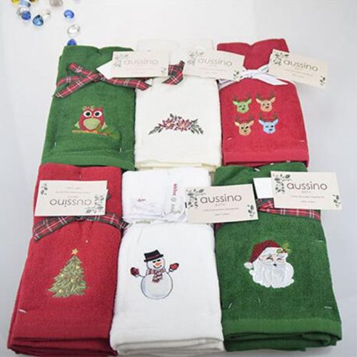 Christmas Hand Towel Cotton Fabric