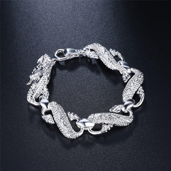 Dragon Bracelet Silver Jewelry