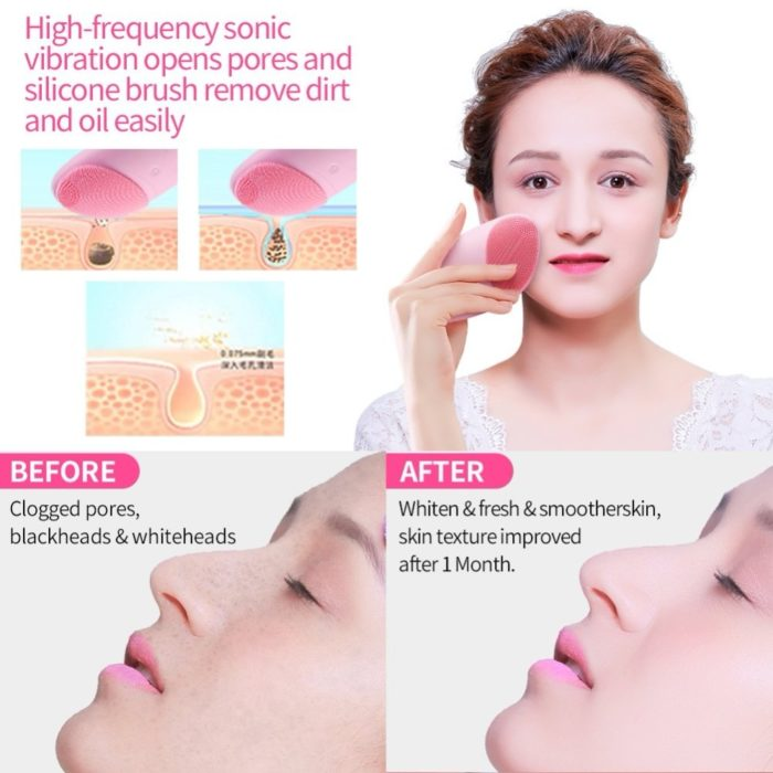 Silicone Facial Cleanser Electric Brush