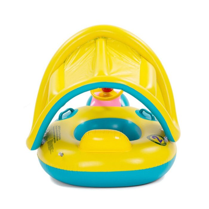 Baby Boat Inflatable Floater with Sunshade
