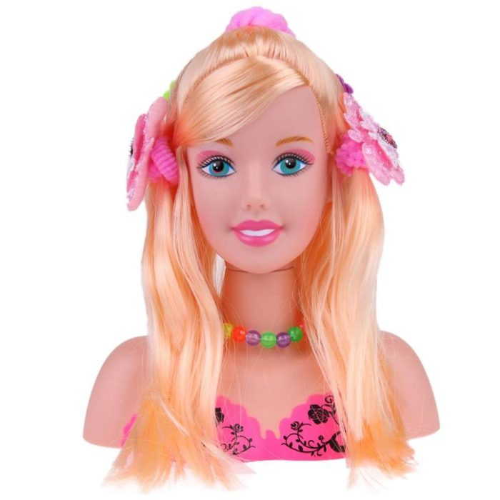 Hair Styling Doll Head Kids Toys