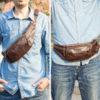 Leather Belt Bag For Men