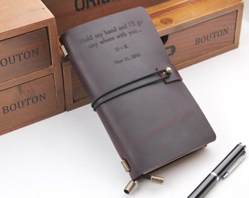 Journal Notebook Custom Leather Diary