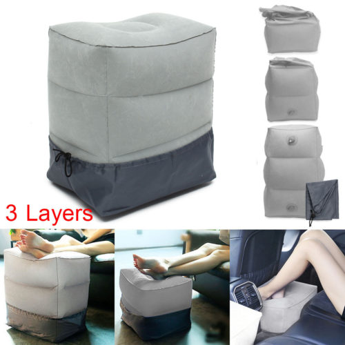 Inflatable Foot Rest Travel Cushion