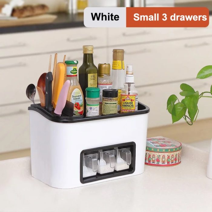 Kitchen Cabinet Organizers Utensil Spice Storage