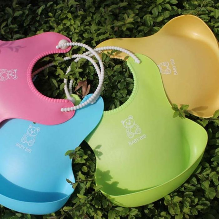 Silicone Baby Bibs Waterproof Feeding Bibs