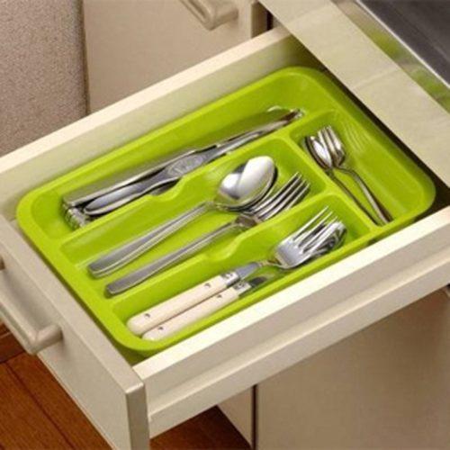 Utensil Drawer Organizer Cutlery Tray