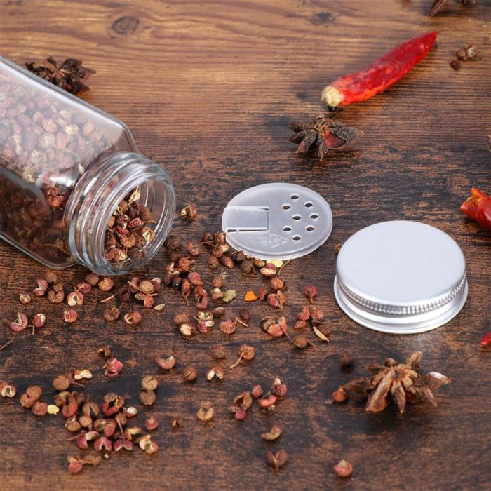 Glass Spice Jars 12PC Set