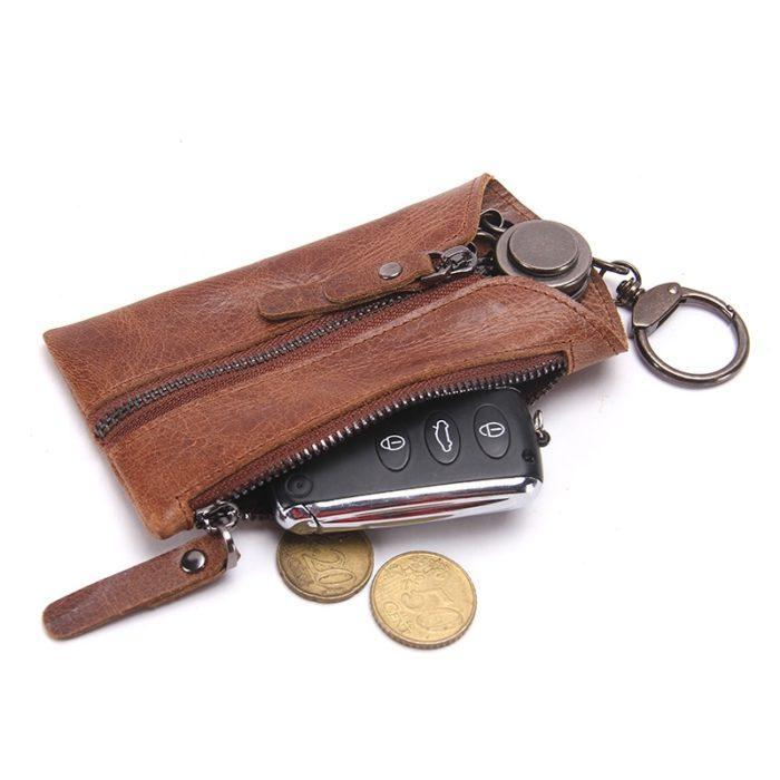 Keyholder Wallet Leather Keychain