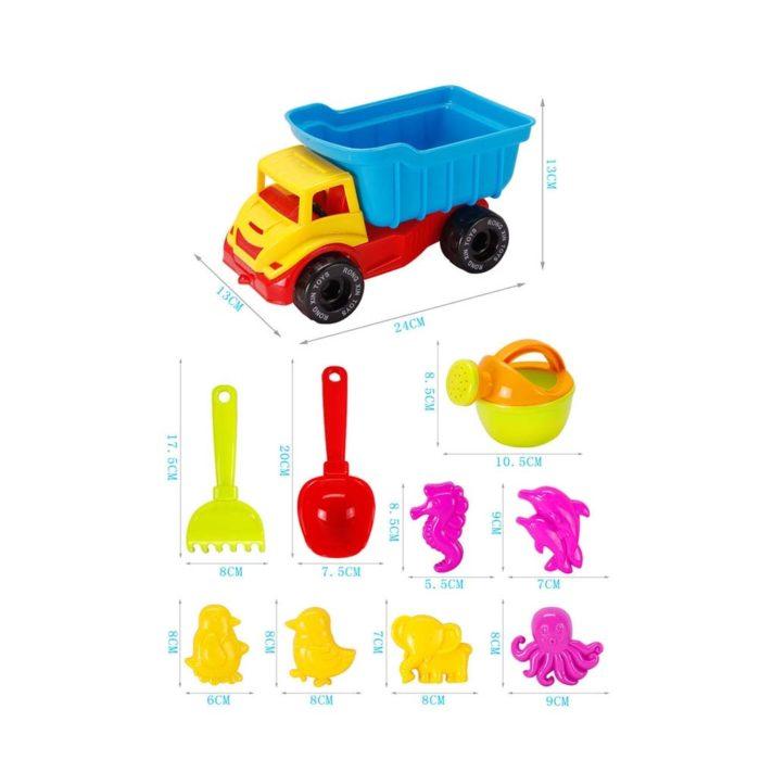 Sandbox Toys 21PC Beach Set