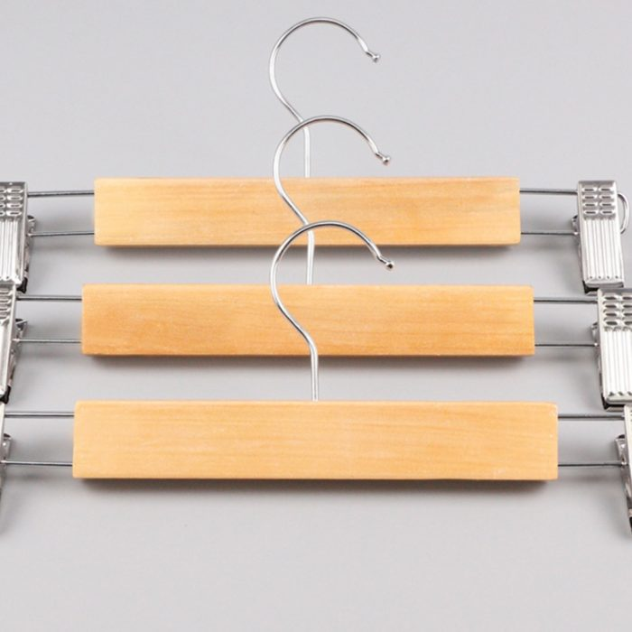 Wooden Pants Hanger Rotatable Hook
