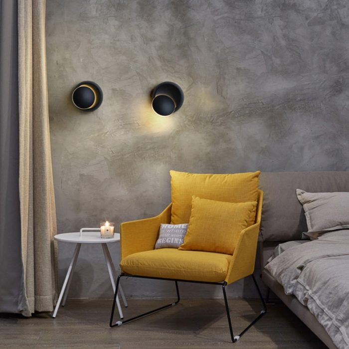 Bedside Lamp Rotatable LED Wall Light