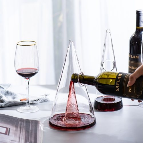 Wine Decanter Elegant Glass Pourer