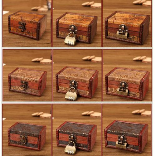 Small Wooden Boxes Retro Jewelry Box