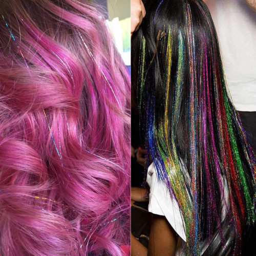 Glitter Hair Extensions Colorful Hair Accessory