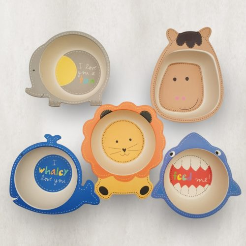 Bamboo Kids Plate Non-Toxic Tableware