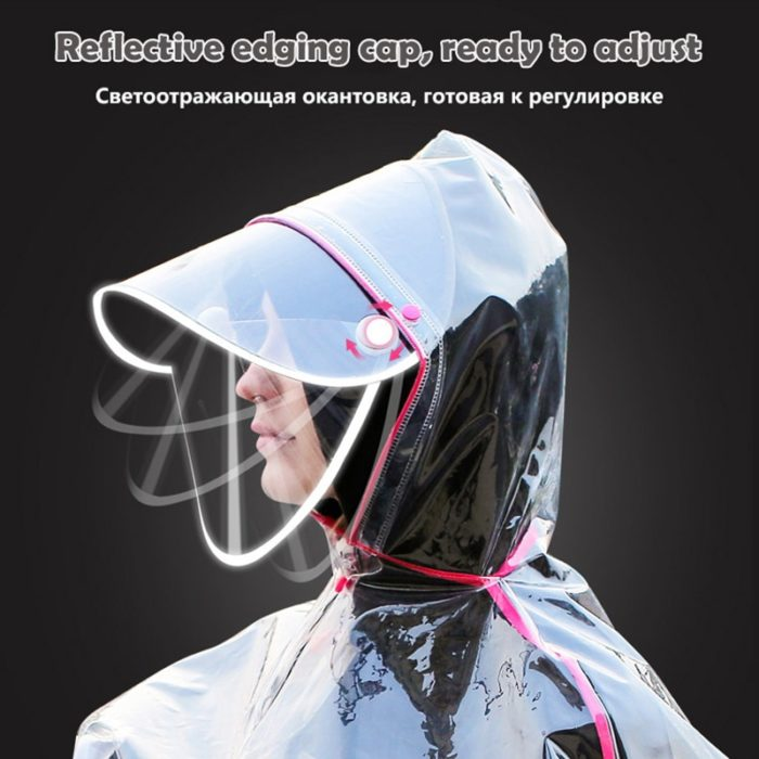 Raincoat For Bikers Transparent Rain Gear