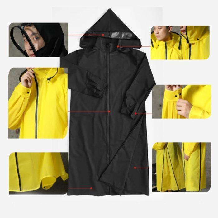 Motorcycle Raincoat Hooded Rain Suit