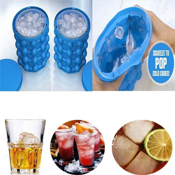 Ice Bucket Portable Ice Cube Container