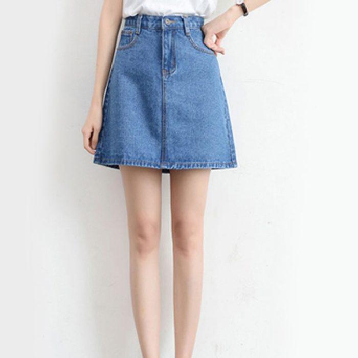 Ladies Denim Skirt Fashionwear