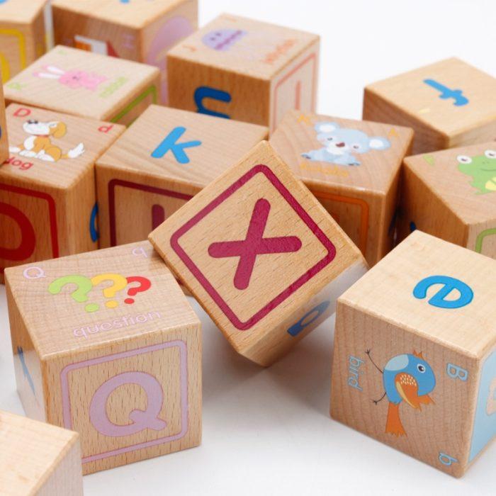 Wooden Alphabet Blocks Educational Toy