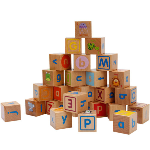Wooden Alphabet Blocks Educational Toy