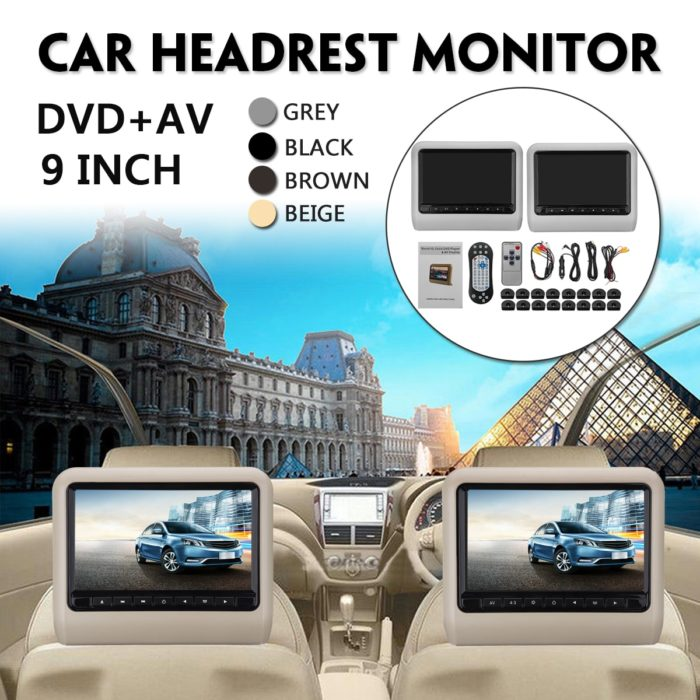 Car Headrest DVD Player Remote Control