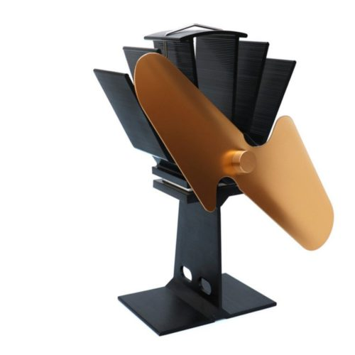 Heat Powered Stove Fan Double Blade