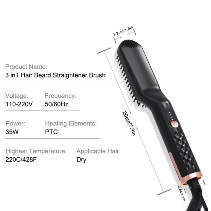 Electric Straightening Comb Hair Styling Tool