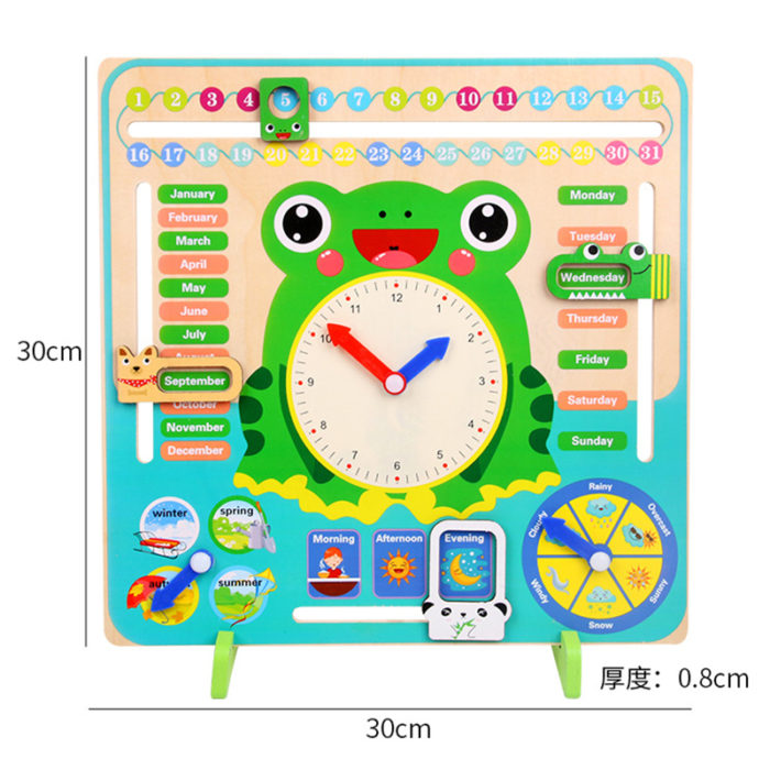Toy Clock Wooden Teaching Aid