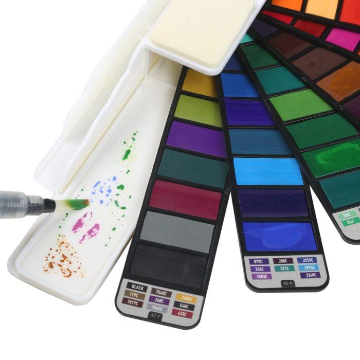 Watercolor Pan 42-Color Travel Set