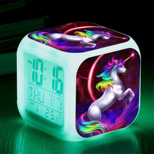 Unicorn Alarm Clock LED Digital Clock