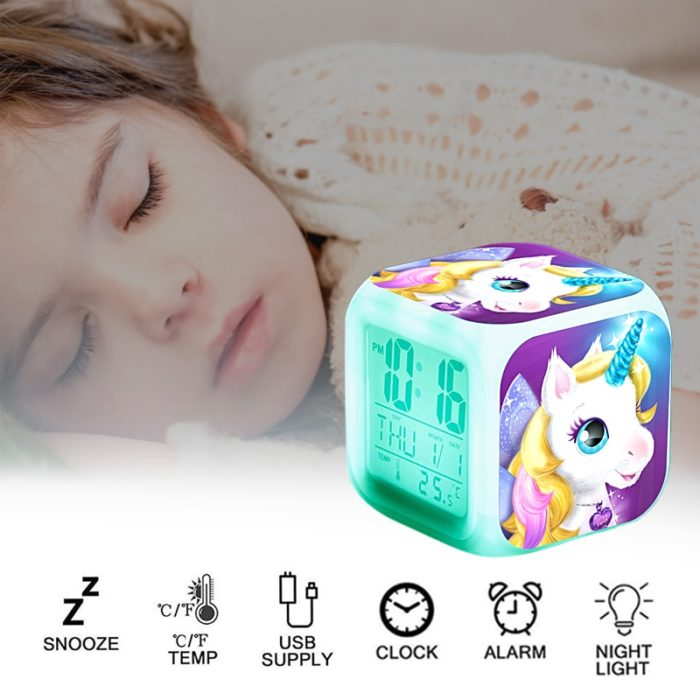 Unicorn Alarm Clock LED Digital Clock